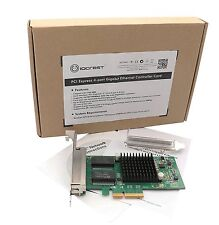 IOCrest 4 Port Gigabit Ethernet Intel i350-AM4 Chipset PCI-E X4 Network Card NIC