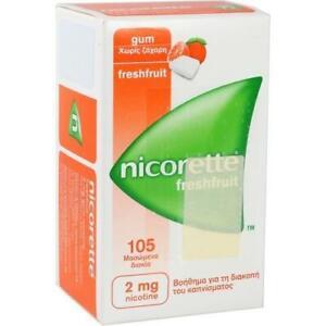 NICORETTE 2 mg freshfruit Kaugummi 105 St PZN 4370248