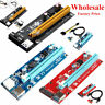 1xTo16x USB3.0 Pcie PCI-E Express Extender Riser Card Adapter Power BTC Cable KY