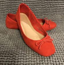 Ladies Orange Suede Ballet Pumps M&S Collection Size 5. EU 37