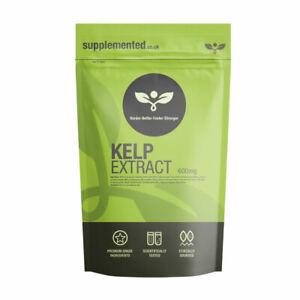 Sea Kelp Extact 500mg 90 Tablets Vegan Iodine Thyroid, Hair, Skin Immune System