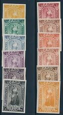 #PR24TC3A-L (12) DIFF TRIAL COLORS PLATE PROOFS ON INDIA UNIQUE SET BR7742