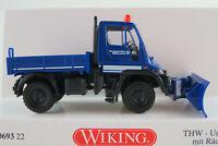 """Wiking 069322 Unimog U 400 Pritsche (2000) """"THW / Winterdienst"""" 1:87/H0 NEU/OVP"""