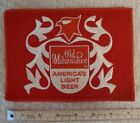 """Vintage large Patch. Old Milwaukee Beer. """"AMERICA'S LIGHT BEER 7"""" x 5"""" rare"""