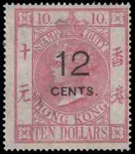 1880 Hong Kong Queen Victorian Postal Fiscal issue 12c on $10. VF
