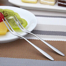 Exquisite Stainless Steel Dessert Fork Kitchen Snacks Cake Fruit Salad Tool