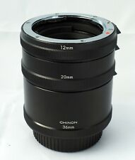 Chinon 12 20 36 mm extension tubes for Pentax K mount