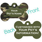 Army Green Camo Double Sided Pet Id Dog Tag Personalized for Your Pet