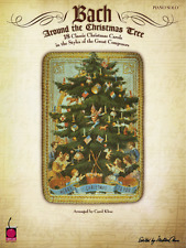 BACH-AROUND THE CHRISTMAS TREE PIANO SOLO MUSIC BOOK-BRAND NEW ON SALE SONGBOOK!