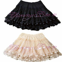 Frilly Skirt Womens Rockabilly Swing Retro Burlesque Skater 50s Plus Size 6-28