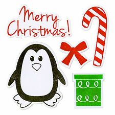 Sizzix Framelits Penguin & Candy Cane.set #658210 Retail $29.99 5 PK with stamps