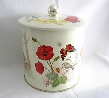 ... LARGE SIZE TIN COOKIE CONTAINER with a FOUR SEASON THEME...SUPER NICE...