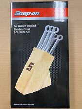 Snap-On Box Wrench Stainless Steel 5pc Knife Set w/Wood Block – SSX18P129