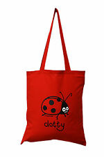 NEW TOTE BAG: LADYBIRD, Jam Red, 100% cotton
