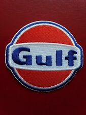 GULF FUEL OIL STATION MOTORSPORT RACING RALLY CAR EMBROIDERED PATCH UK SELLER