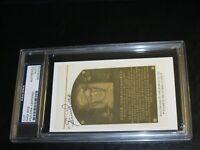 Sam Rice Autographed HOF Cut PSA Certified Encapsulated