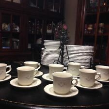 8 Sets Of Pfaltzgraff Heirloom Coffee cups and Saucers