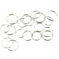 100 pcs 25mm Metal Keyring Split Key Rings Hoop Ring Nickel Plated Steel Loop~
