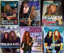 MEGADETH on COVER LOT of 6 Japan Magazines RARE! Dave Mustaine