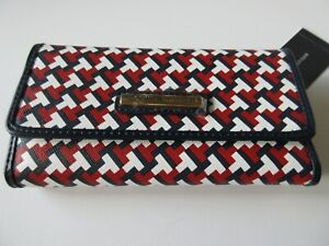 Tommy Hilfiger Women's Checkbook Wallet Red/White/Blue Signature Tommy Logo NWT