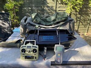 Angling Technics Technicat MKII Baitboat + Echo Sounder + Battery Tester + Bag
