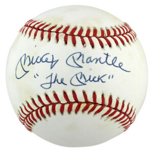 """Yankees Mickey Mantle """"The Mick"""" Authentic Signed Oal Baseball PSA/DNA #AG01579"""