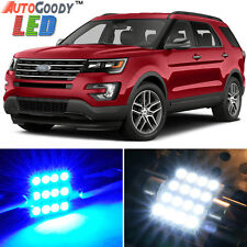 12 x Premium Blue LED Lights Interior Package for Ford Explorer 2011-2017 + Tool