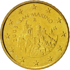 [#99159] San Marino, 50 Euro Cent, 2003, MS(63), Brass, KM:445