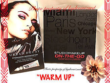 "Studio Makeup On-The-Go Eye shadow Palette in ""WARM UP"" & Urban Decay AUTHENIC"