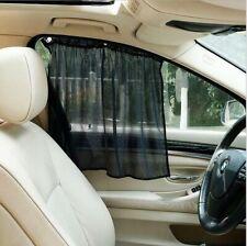 2PCS Adjustable Car SUV Window Anti-UV Sun Shade Drape Visor Curtain Universal