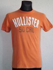Hollister California mens cotton short sleeve orange  T-shirt size S