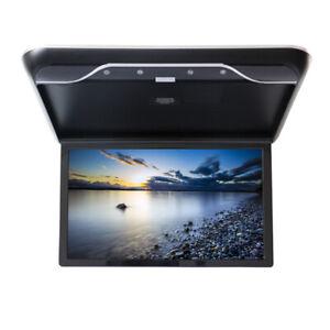 "19"" HD Flip-Down Car Roof Screen Ceiling Overhead Monitor HDMI SD USB MP5 Player"