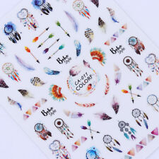 Dreamcatcher 3D Nail Stickers Tattoos Feather Arrow Transfer Manicure Nails Tips