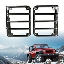 Tail Light Guard Metal Protector Cover For 2007 Jeep Wrangler Jk Black A Fits Jeep