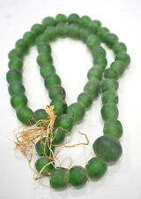 Beads African Old Recycled Green Glass Beads 14-22mm