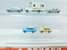 AV285-0,5# 5x Wiking H0 model: Opel+Trabant 601+Audi Telekom+VW/Volkswagen etc.