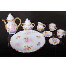 8pcs/Set Porcelain Tea Set Teapot Ceramic Retro Style Coffee Teacup Floral Cups