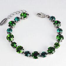 Grevenkämper Armband Swarovski Kristall Tennis Silber grün Emerald Fern Green