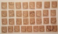 MAURITIUS 1910, 2 CENTS, LOT OF 33 USED STAMPS, 3 PAIRS, FREE SHIPPING!!!