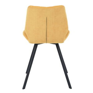 Modern Dining Chair Set of 2 Upholstered Kitchen Chairs w/ Metal Leg Living Room
