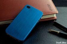Design Metal Hülle für Apple iPhone 4s 4 Tasche Schale Case - Blau (27BL)