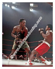 Very Rare Original Muhammad Ali vs. Joe Frazier Glossy 8 x 10 Color Photograph