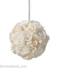 Ivory Flower Ball Wedding Decoration Flower Girl Basket Alternative