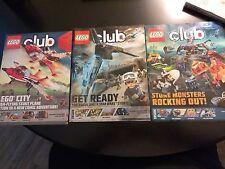 Lego Club Magazine 3 Back Issues [Sept/Oct 2016, Nov/Dec 2016, Jan/Feb 2017]