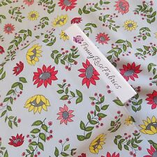 By The Yard ~Cotton Fabric, Penny Rose 'Monday Monday' Flowers on Gray