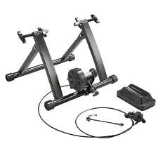 Foldable Magnetic Indoor Turbo Trainer 8 Level Resistance Road Bike Training UK