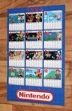1994 Nintendo Calendar Poster Mega Man Kirby's Adventure Metroid Mario Zelda etc