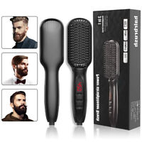 Electric Quick Heated Beard Straightener Brush Hair Comb Curling For Men,Women