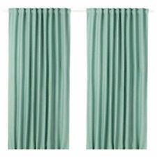 "IKEA VILBORG Curtain Panels - 98"" x 57"" - Brand New Package 22434 Green"