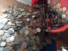 150 Mundo Old English coins.big Lote a granel monedas mezcladas Todo Tipo Bolso Grande
